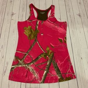 RealTree Cami Tank Top Camouflage Pink M